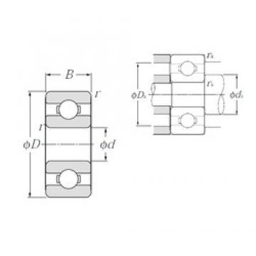 NTN 69/1,5A deep groove ball bearings