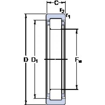 SKF RNU 1007 ECP cylindrical roller bearings