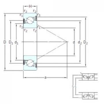 SKF BSD 2562 CG-2RZ thrust ball bearings