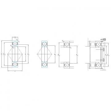 SKF QJ208MA angular contact ball bearings