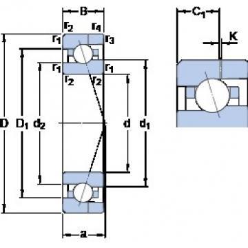 SKF 7001 ACE/HCP4AH angular contact ball bearings