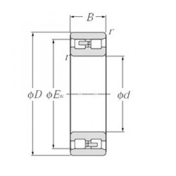 NTN NN4922 cylindrical roller bearings