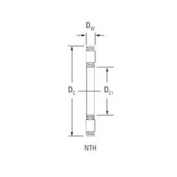 KOYO NTH-3460 thrust roller bearings
