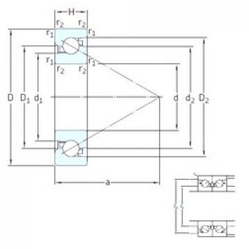 SKF BSD 4072 CG thrust ball bearings