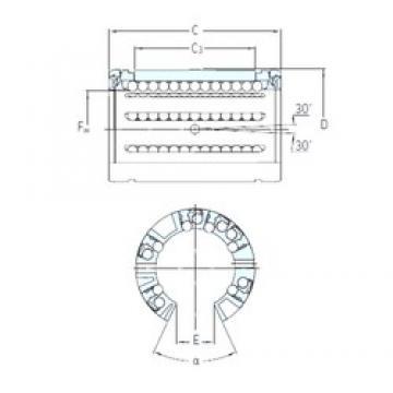 SKF LBCF 16 A linear bearings