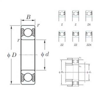 KOYO 6914Z deep groove ball bearings