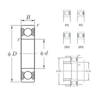 KOYO 6020-2RS deep groove ball bearings