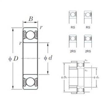 KOYO 6807-2RS deep groove ball bearings