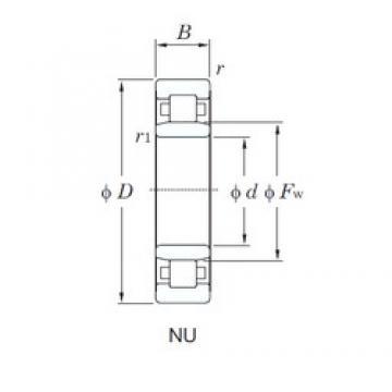 KOYO NU214R cylindrical roller bearings