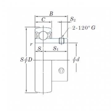 KOYO UC314-44 deep groove ball bearings