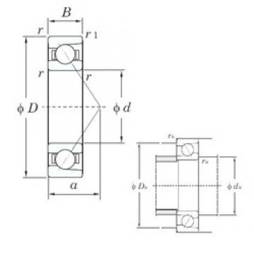 KOYO 7005C angular contact ball bearings