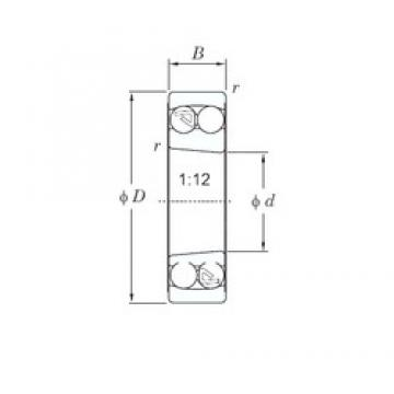 KOYO 2305K self aligning ball bearings