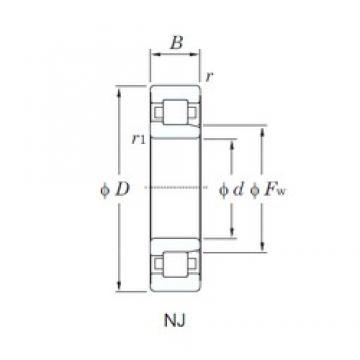 KOYO NJ318R cylindrical roller bearings