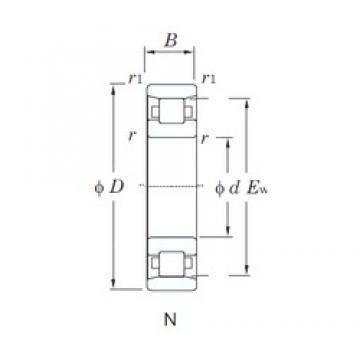 KOYO N220 cylindrical roller bearings