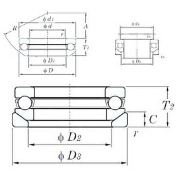 KOYO 53309U thrust ball bearings