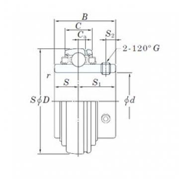 KOYO UC212-39L3 deep groove ball bearings