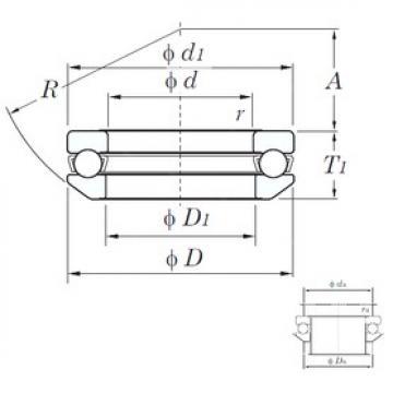 KOYO 53324 thrust ball bearings