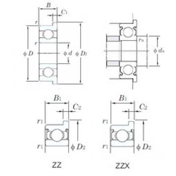 KOYO WF689ZZ deep groove ball bearings