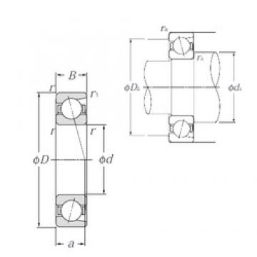 NTN 7828C angular contact ball bearings