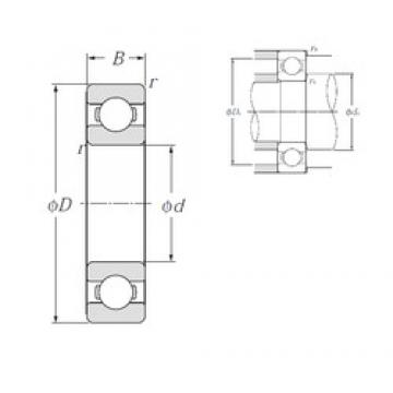 NTN 6200 deep groove ball bearings