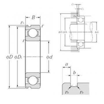 NTN 6814N deep groove ball bearings