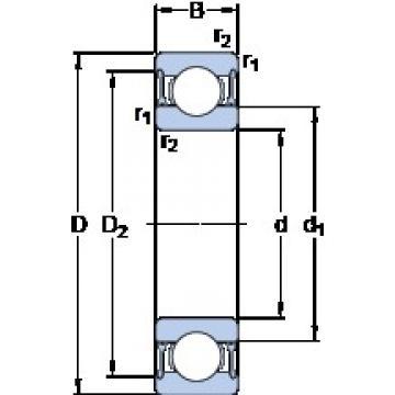 SKF 61826-2RZ deep groove ball bearings