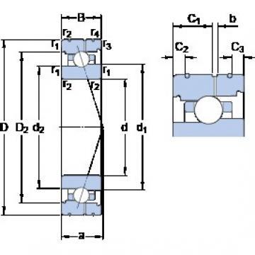 SKF 7017 ACB/HCP4AL angular contact ball bearings