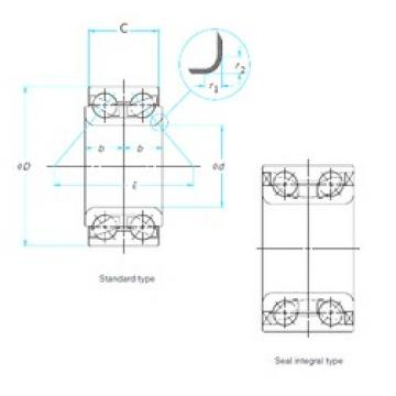 NTN DE0829LLCS32PX1/5A angular contact ball bearings