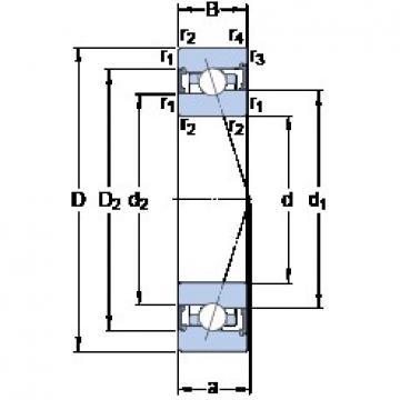 SKF S7015 CB/P4A angular contact ball bearings