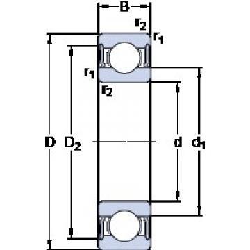 SKF 62205-2RS1 deep groove ball bearings