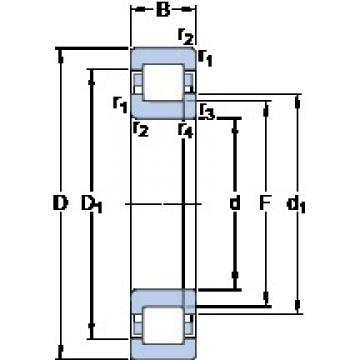 SKF NUP 211 ECM thrust ball bearings