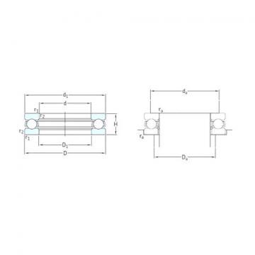 SKF 51164M thrust ball bearings