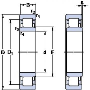 SKF NU 2224 ECM thrust ball bearings