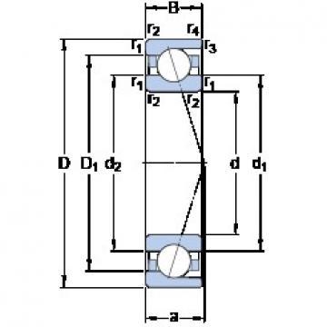 SKF 7032 ACD/HCP4A angular contact ball bearings