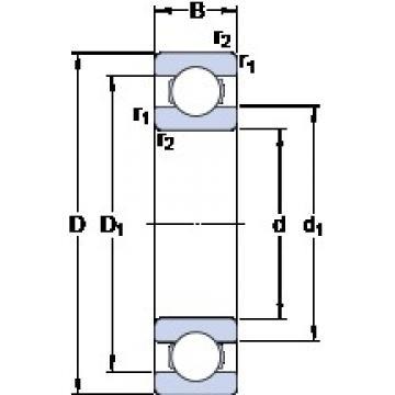SKF 6332 M/C3VL2071 deep groove ball bearings