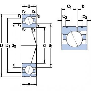 SKF 7016 CD/HCP4AL angular contact ball bearings