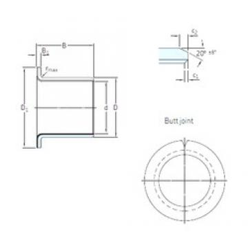 SKF PCMF 182012 E plain bearings