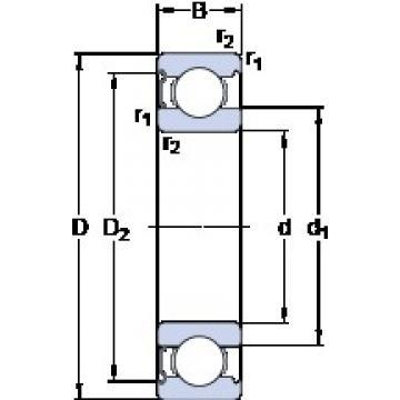 SKF 6013-Z deep groove ball bearings