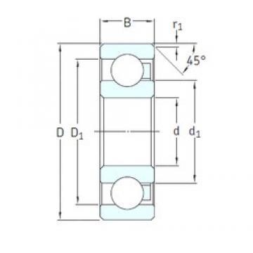 SKF 6000/HR22T2 deep groove ball bearings