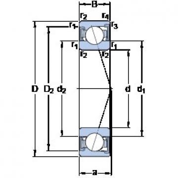 SKF S71907 ACD/HCP4A angular contact ball bearings