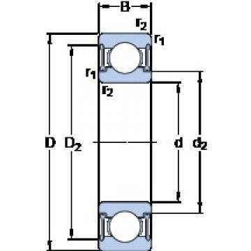 SKF W 6002-2RZ deep groove ball bearings