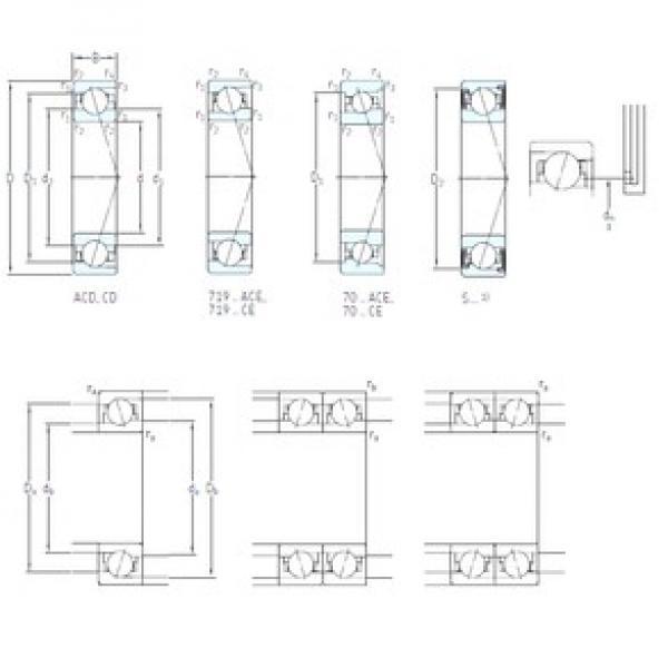 SKF S7005 CE/HCP4A angular contact ball bearings #3 image