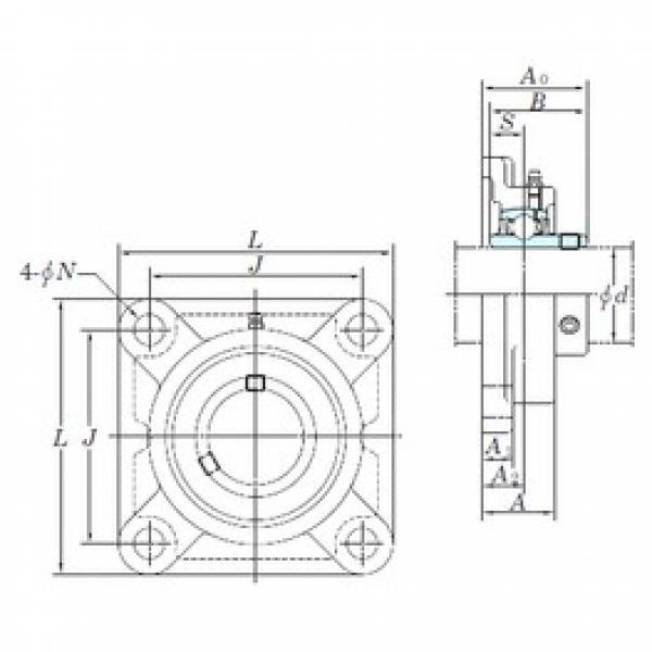 KOYO UCF208 bearing units #3 image