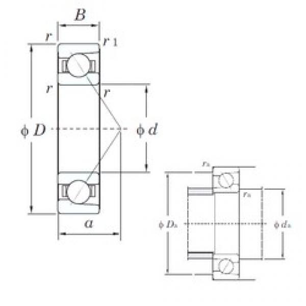 KOYO 7311 angular contact ball bearings #3 image