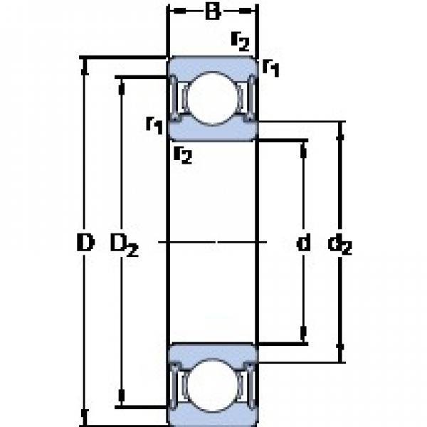 SKF W 6002-2RZ deep groove ball bearings #3 image